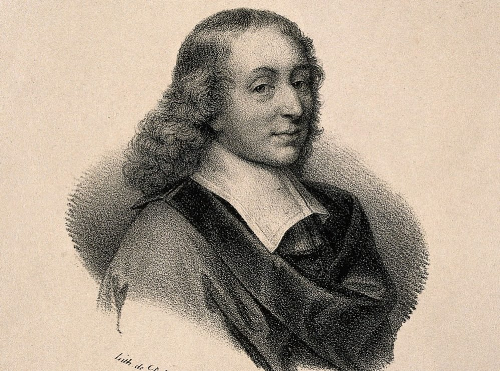 Blaise Pascal. Lithograph after G. Edelinck after F. Quesnel Wellcome V0004512
